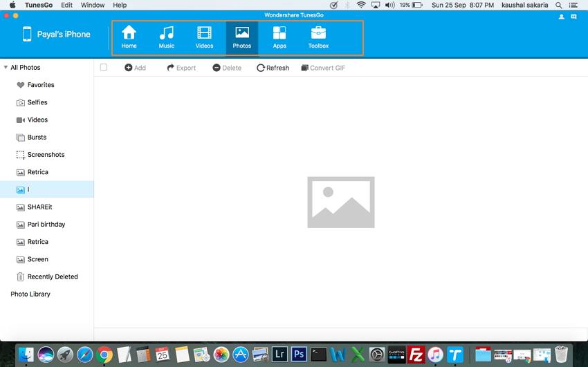 Mac a iPhone Transfer Utilizzando TunesGo