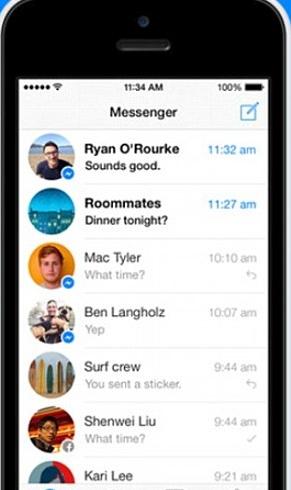 top 15 whatsapp alternatives-Facebook Messenger