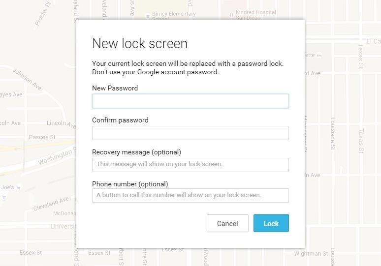 set new lock screen