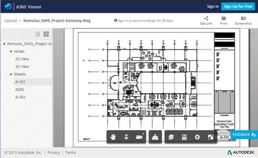 A360 Viewer AutoDesk Screenshot