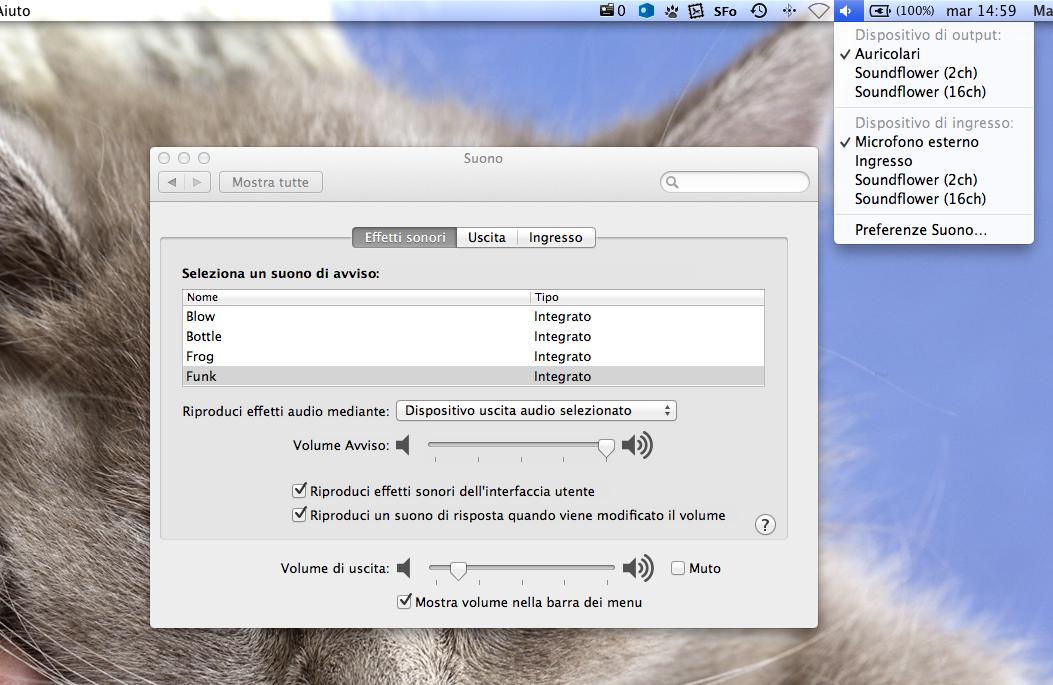 Risultati immagini per input e output suono mac