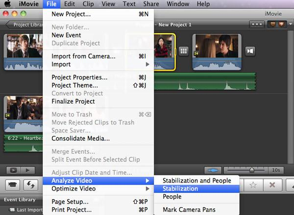 how to make a gopro video with imovie