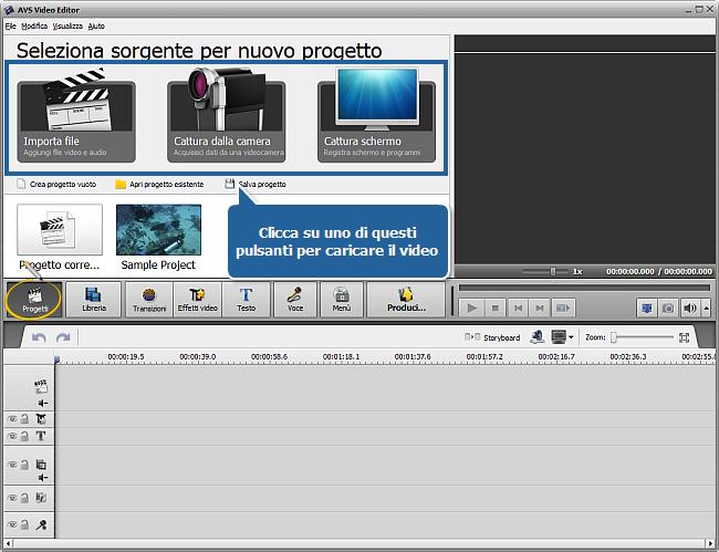 Come iniziare a lavorare con AVS Video Editor?