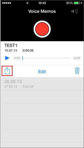 Trasferire iPhone Memo vocali via email / MMS