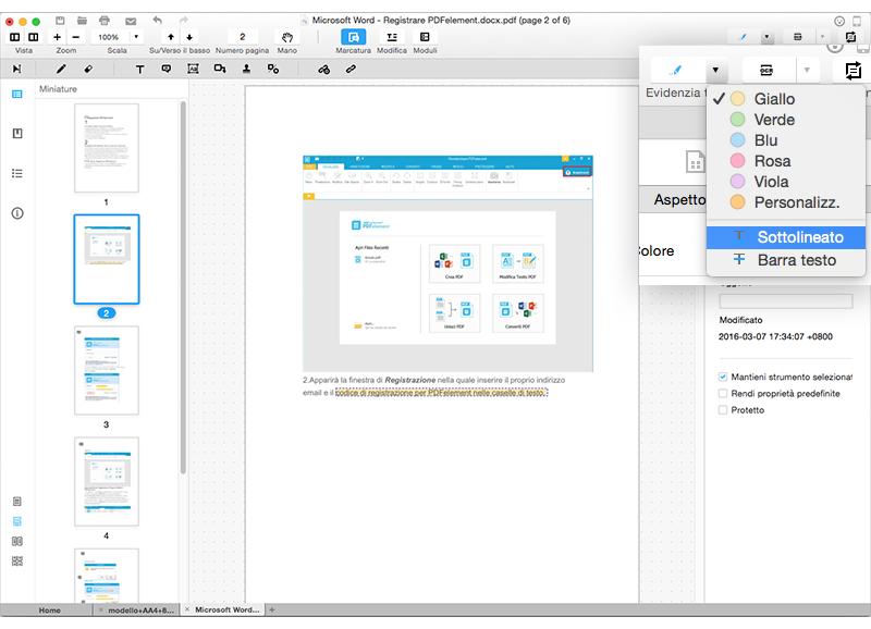 annotare pdf su mac