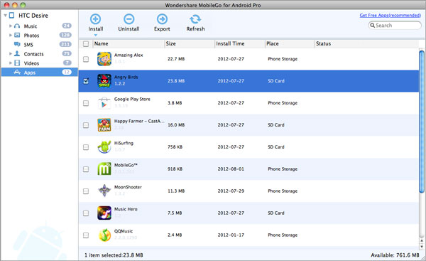 gestione app