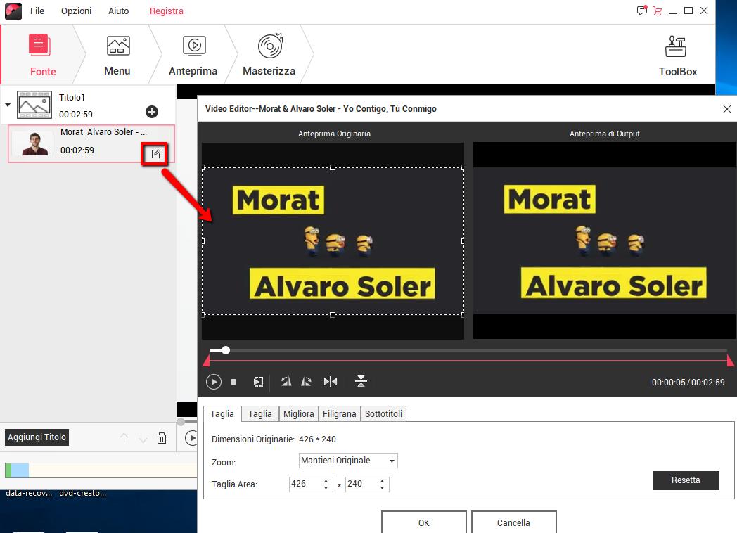 modifica video