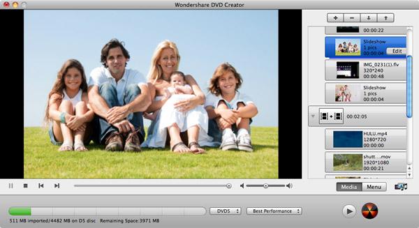 interfaccia dvd creator mac
