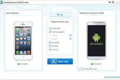 contatti android su iphone