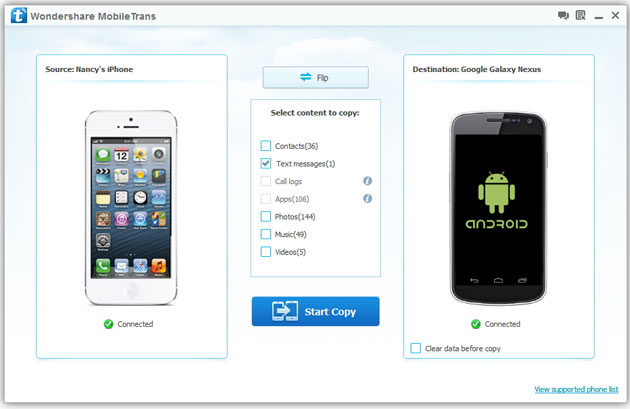 Trasferire tutti i dati da iPhone a Samsung