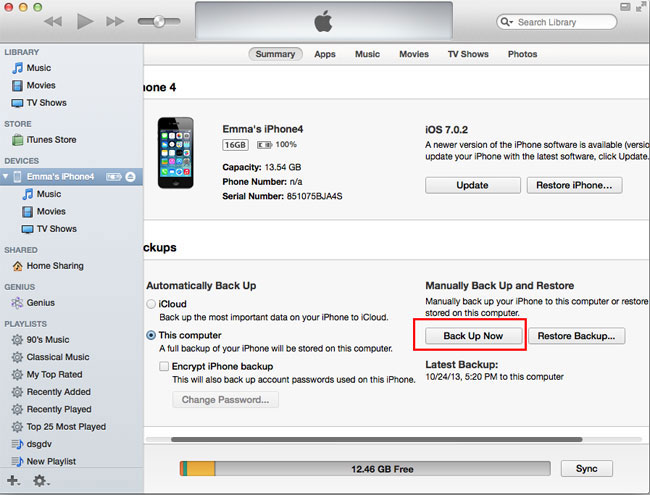 itunes backup iphone come fare backup iphone e prima dell aggiornamento 2164