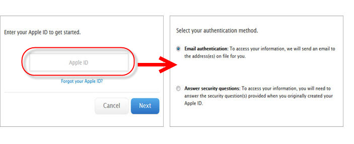 how to find icloud id and password