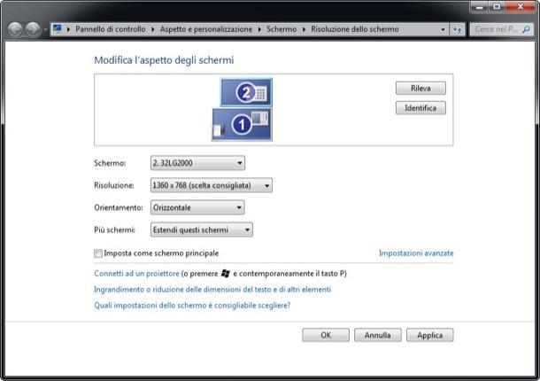 Risultati immagini per estendi desktop windows 10