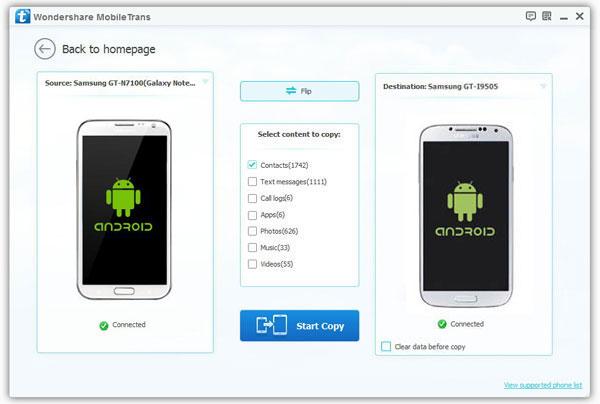 copiare contatti da iphone a samsung s8+