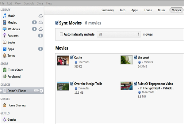 how to delete home movies from itunes