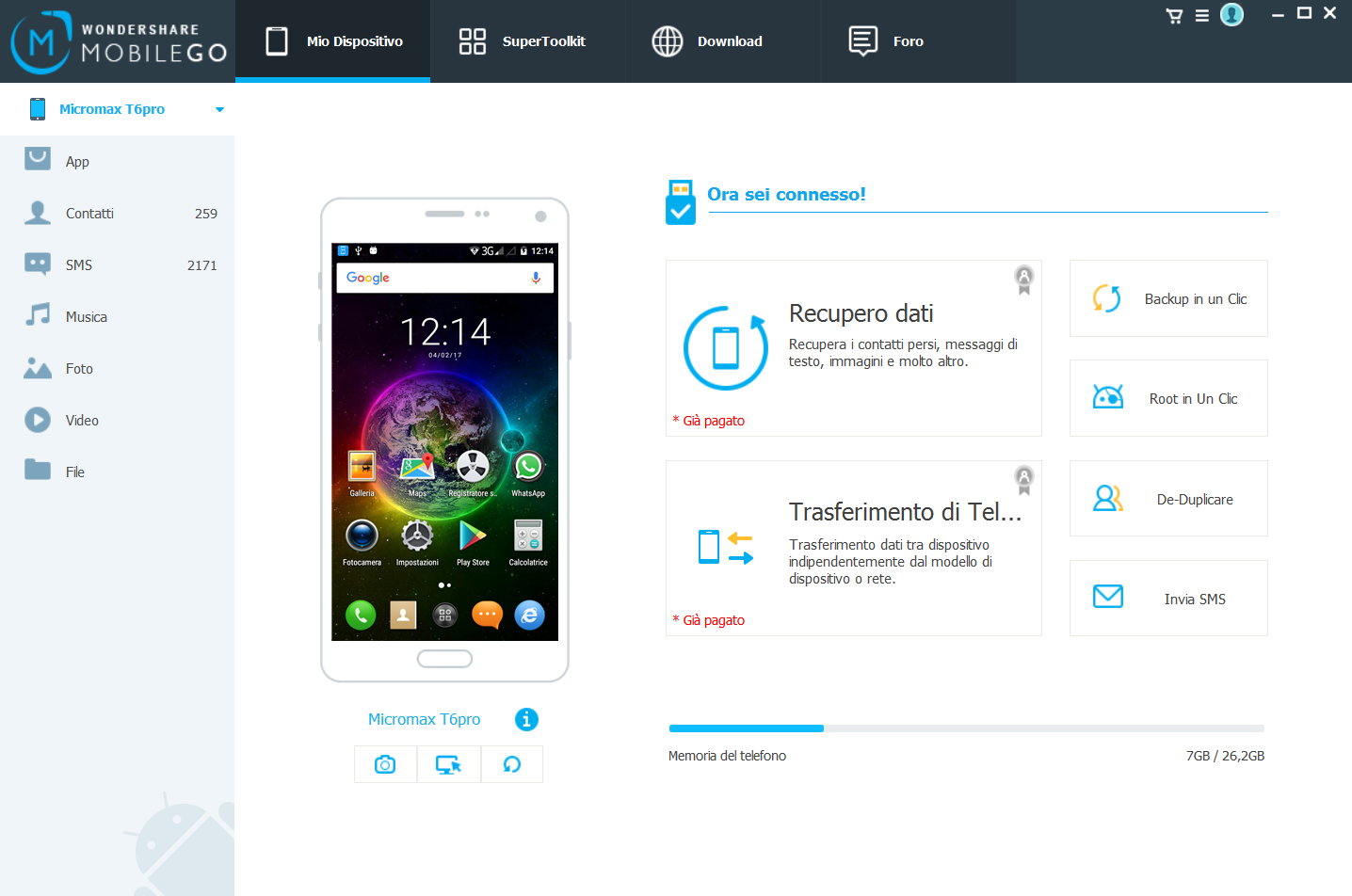 Collegare e Gestire Samsung Galaxy da PC o Mac