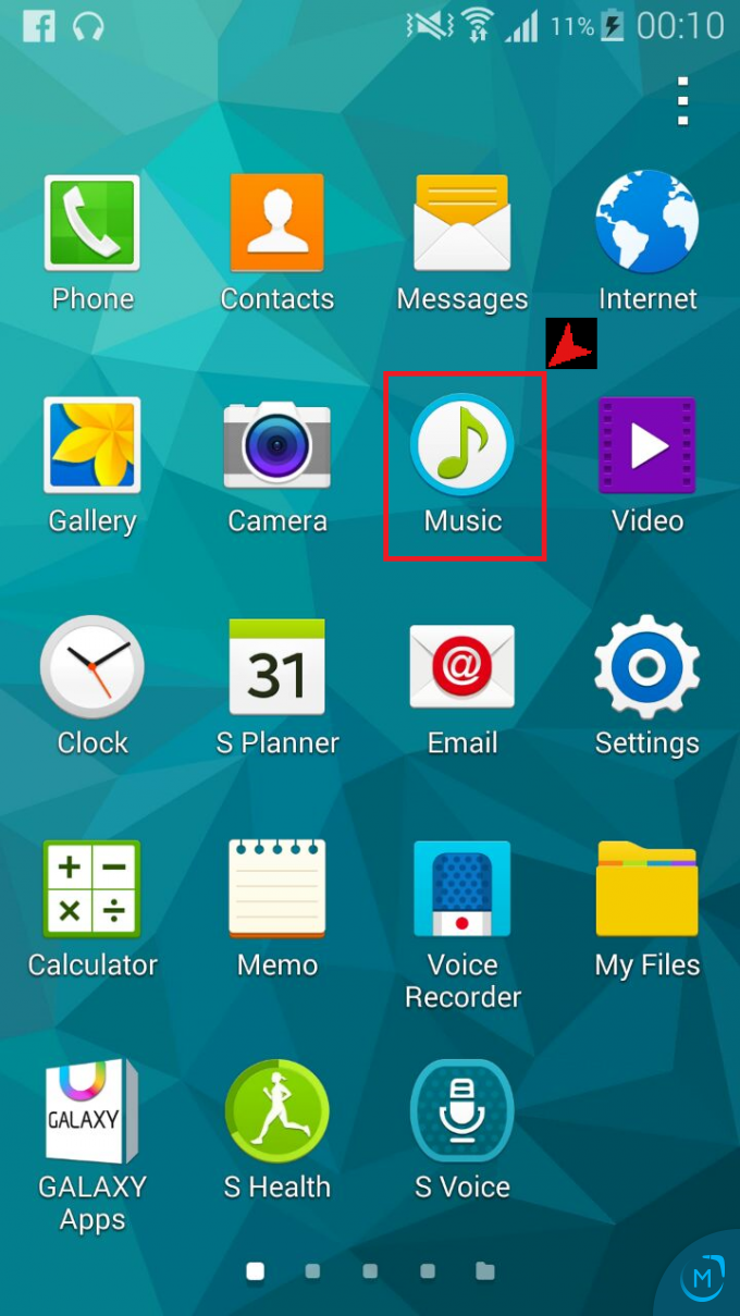 how to listen to music on samsung galaxy s5