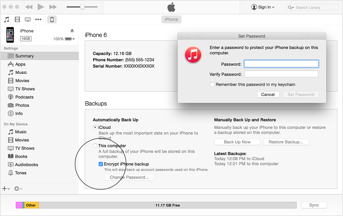 where does itunes store iphone backups come proteggere backup itunes con password softstore 19615