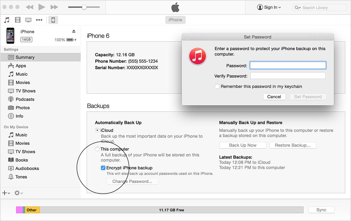 password-itunes-backup