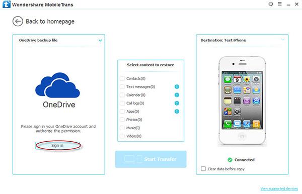 da onedrive a iphone