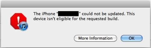 non trovo la risorsa richiesta itunes ripristino iphone