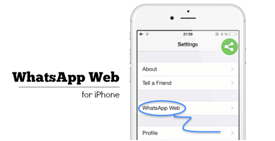 whatsapp web per iphone