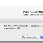 Errore 56 iPhone durante Aggiornamento Firmware