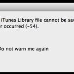 Errore 54 iTunes? Ecco come risolvere