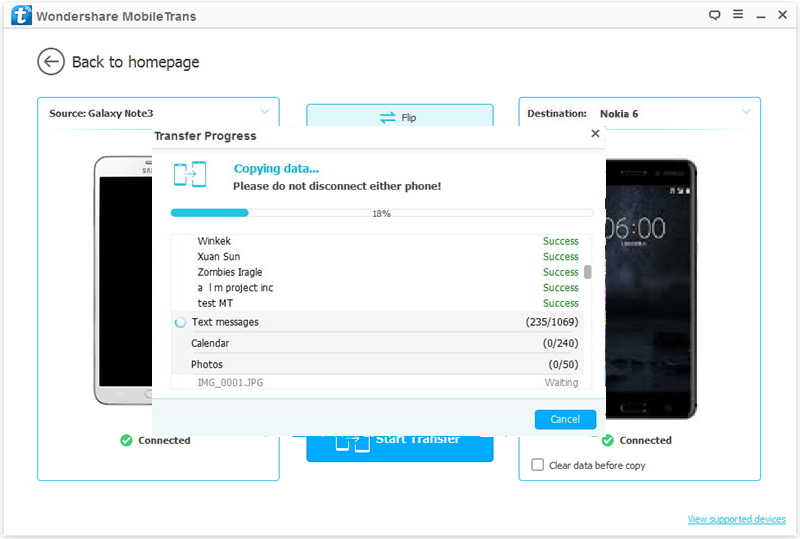 How to Transfer Data from Samsung to Nokia 6-