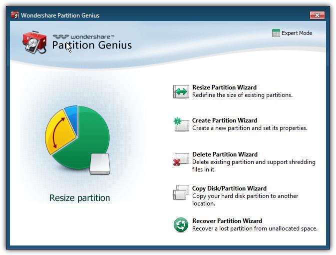 wondershare partition genius