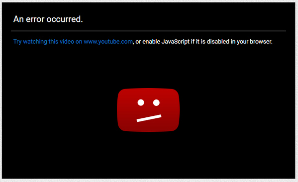 Enable YouTube Javascript