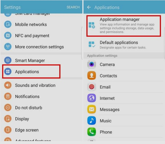 error code 504-Android application manager