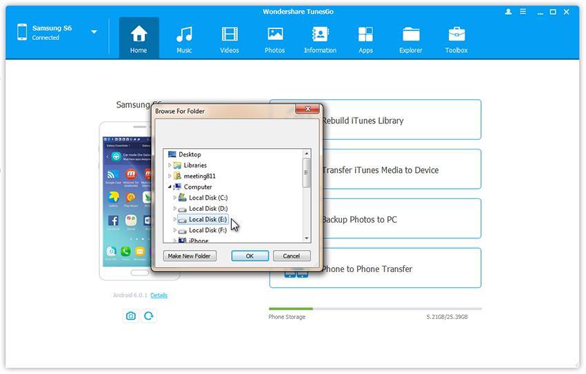 Come trasferire foto dal Samsung al PC