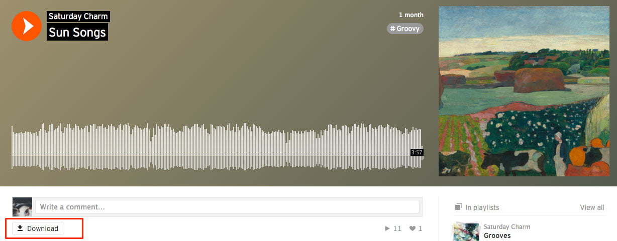 how to download songs from soundcloud official