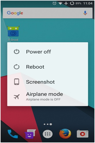 power off android device
