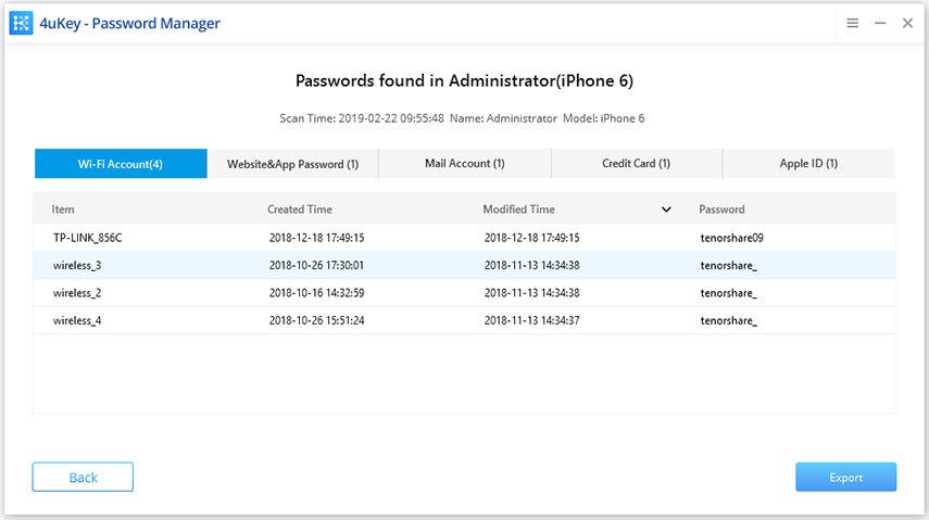 view WiFi password