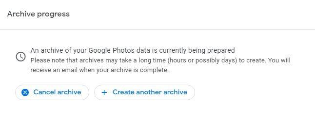 Move Photos Amazon Google Archive Progress