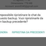 Backup Whatsapp non Trovato. Come Ripristinare i Messaggi?