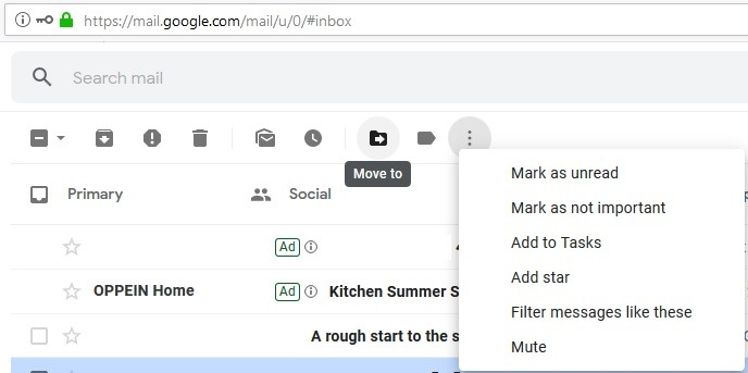 Gmail Short Cut Keys