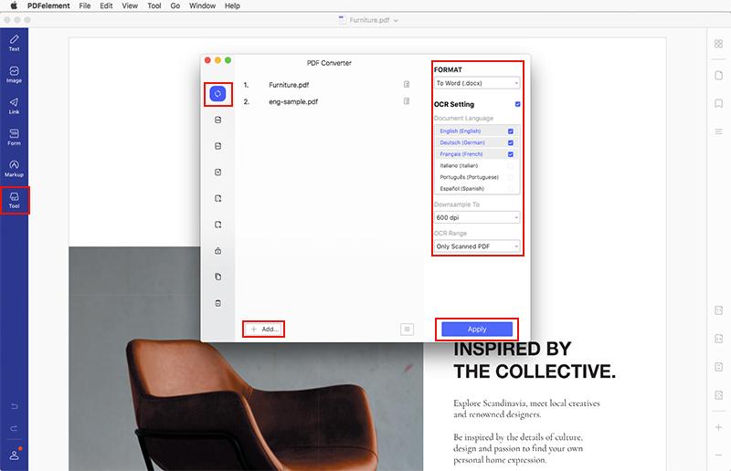 edit scanned pdf mac
