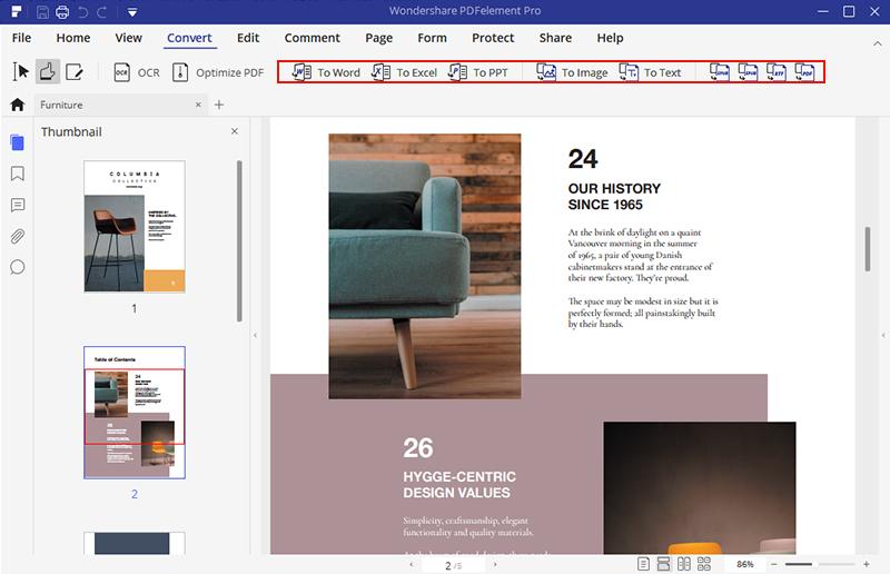 convert pdf to web page