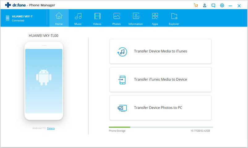 manage S9/S20 messages with Dr.Fone