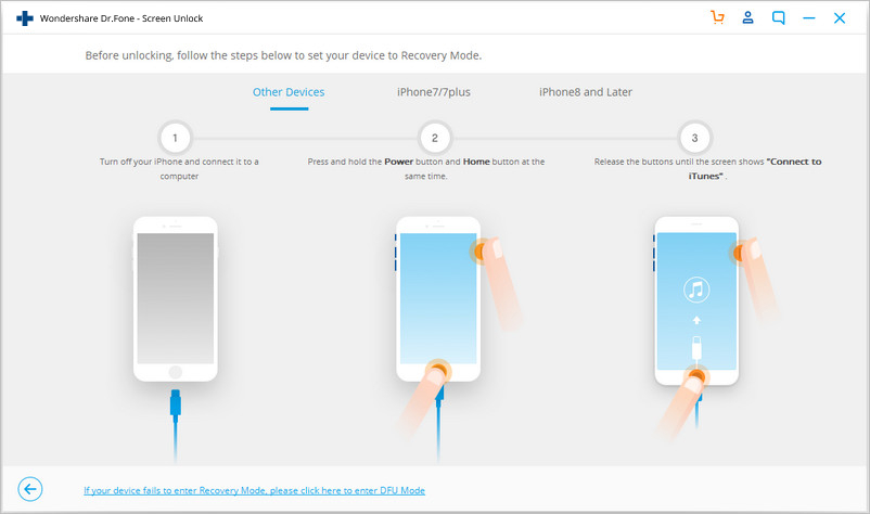 DFU mode to unlock disabled iphone without itunes