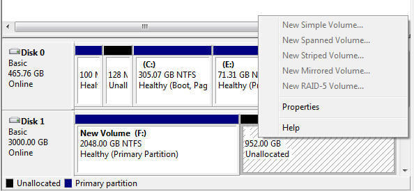 3TB HDD Shows 2TB only