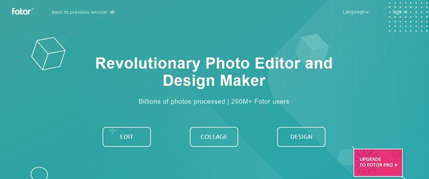 Free Online Photo Editors - Fotor