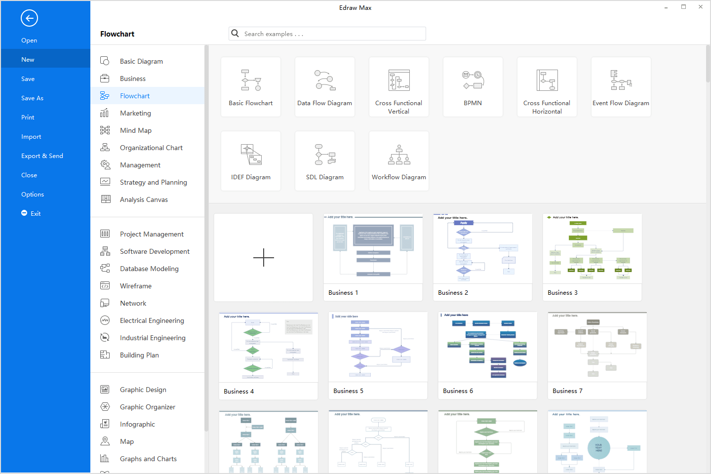 all flow chart templates