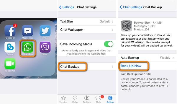 Transfer WhatsApp to New iPhone with WhatsApp iCloud